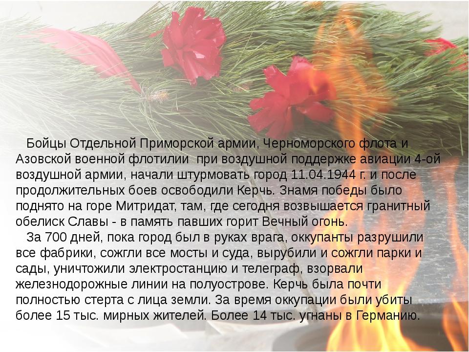 Бойцы Отдельной Приморской армии, Черноморского флота и Азовской военной фло...