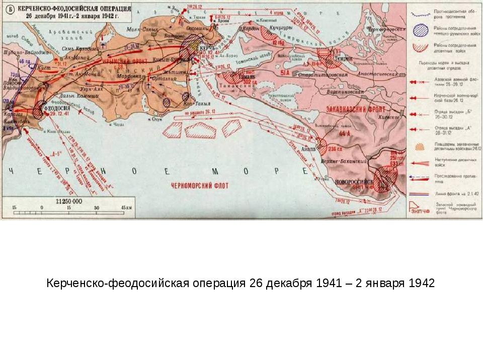 Керченско-феодосийская операция 26 декабря 1941 – 2 января 1942
