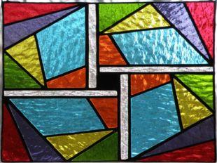 В период раннего христианства витраж представлял собой набор цветных стекол,