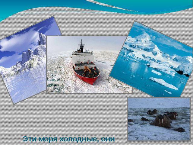 Эти моря холодные, они покрываются льдами на большую часть года. Суда по ним...
