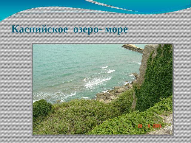 Каспийское озеро- море
