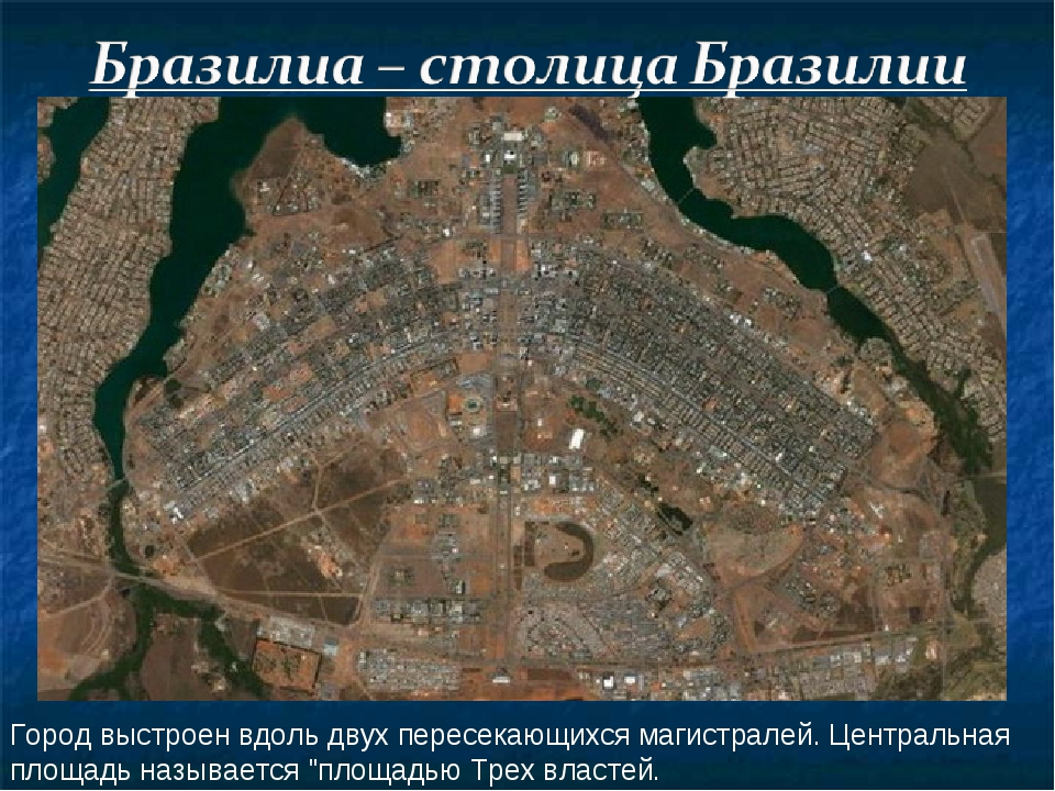 Город выстроен вдоль двух пересекающихся магистралей. Центральная площадь наз...