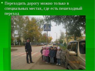 Переходить дорогу можно только в специальных местах, где есть пешеходный пере