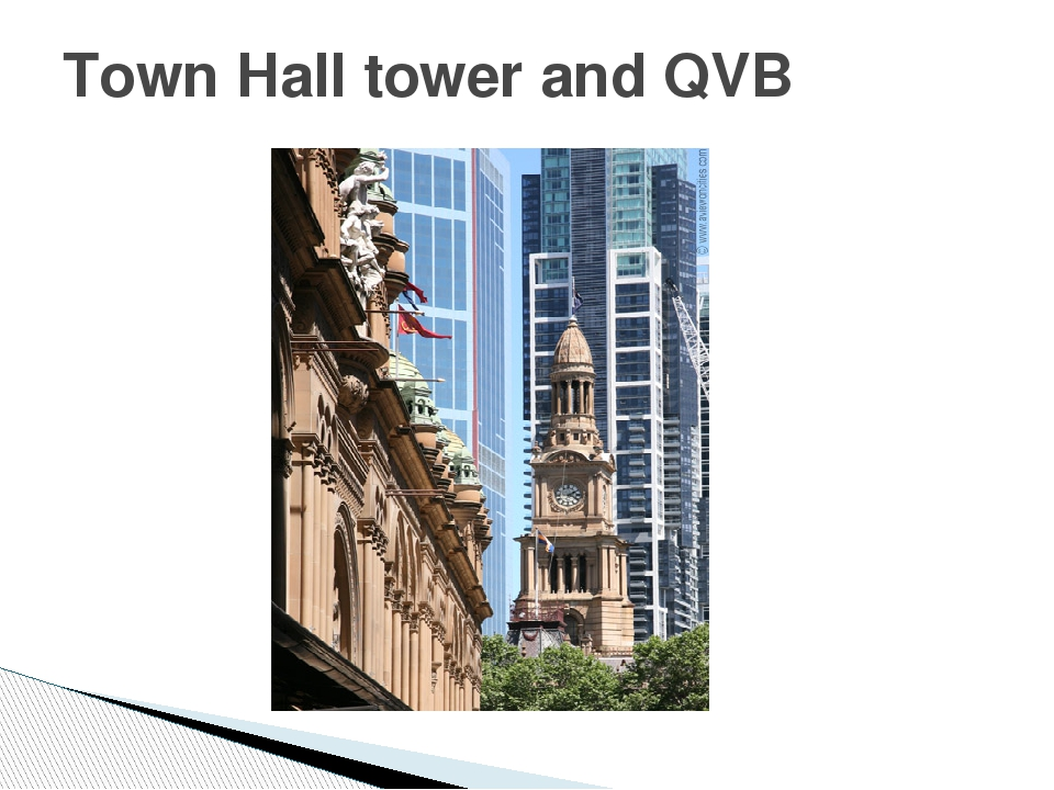 Town Hall tower and QVB