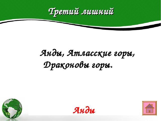Третий лишний Text in here 2005 2006 2007 2008  Анды, Атласские горы, Дракон...