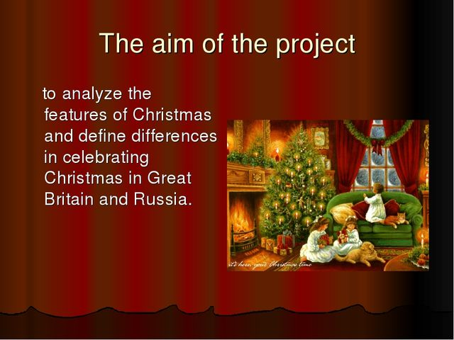The aim of the project to analyze the features of Christmas and define differ...
