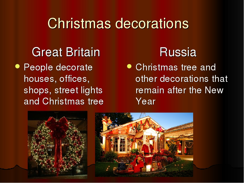 Christmas decorations  Great Britain People decorate houses, offices, shops,...