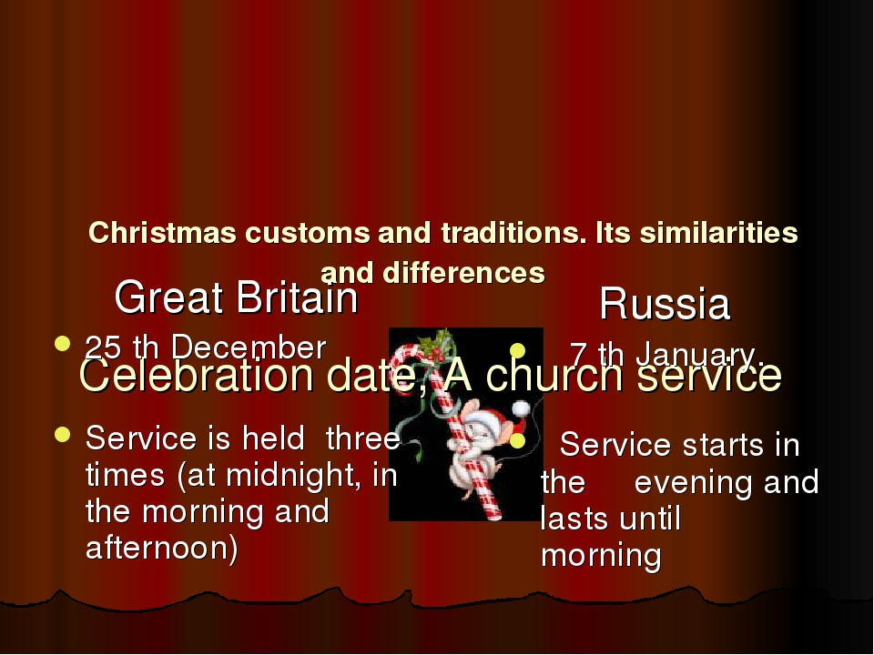 Christmas customs and traditions. Its similarities and differences Celebrati...