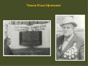Чижов Илья Ефимович