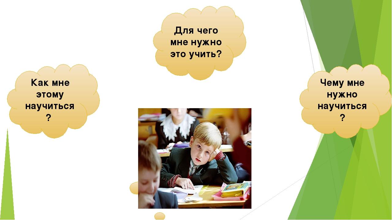 Чему мне нужно научиться? Как мне этому научиться? Для чего мне нужно это учи...