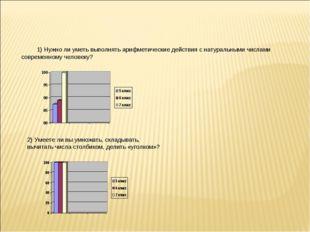 1) Нужно ли уметь выполнять арифметические действия с натуральными числами со
