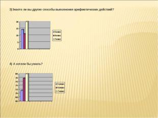 3)Знаете ли вы другие способы выполнения арифметических действий? 4) А хотели