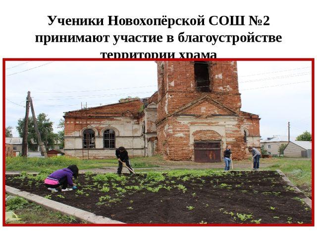 Ученики Новохопёрской СОШ №2 принимают участие в благоустройстве территории х...