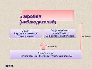 * Сход(апелла) Полноправный 30летний гражданин полиса выборы Герусию (совет с