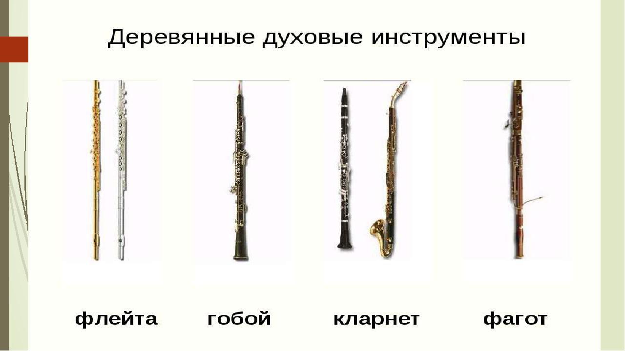 Деревянно – духовые инструменты