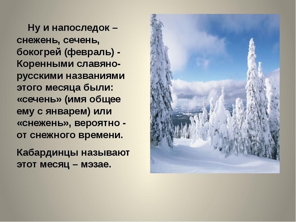 Ну и напоследок – снежень, сечень, бокогрей (февраль) - Коренными славяно-ру...