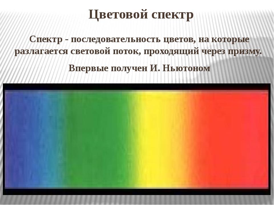 Цветовой спектр Спектр- последовательность цветов, на которые разлагается с...
