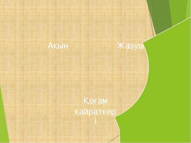 Жазушы Қоғам қайраткері Ақын