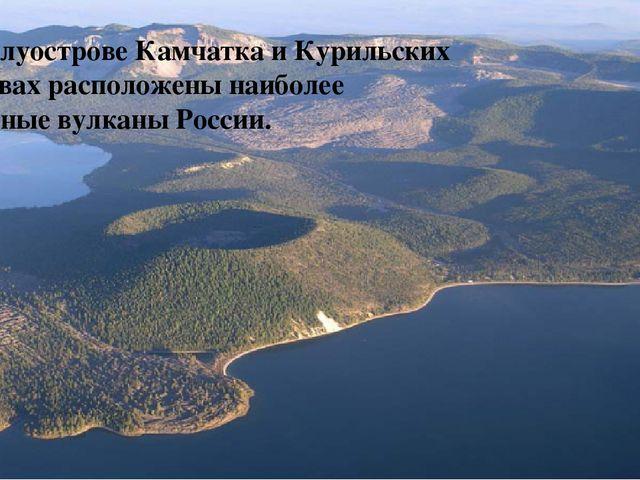 ыяц На полуострове Камчатка и Курильских островах расположены наиболее активн...