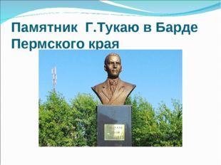 Памятник Г.Тукаю в Барде Пермского края 28 июня 2013 г. в селе Барда Бардымс