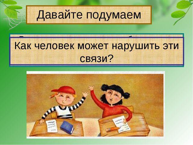 Давайте подумаем Рассмотрите рисунки в учебнике на стр.55, приведите примеры...