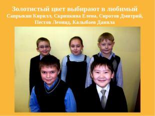 Золотистый цвет выбирают в любимый Сапрыкин Кирилл, Скрипкина Елена, Сиротов