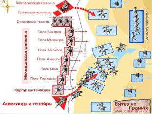 Май, 334 г. до н. э. — Битва на реке Граник— Александр Великий разбил войск