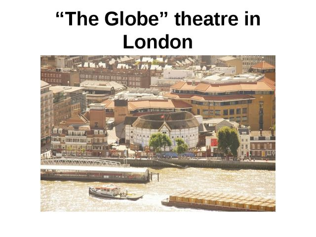 """The Globe"" theatre in London"