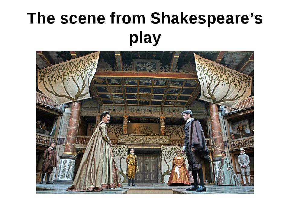 The scene from Shakespeare's play