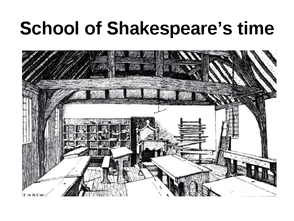 School of Shakespeare's time
