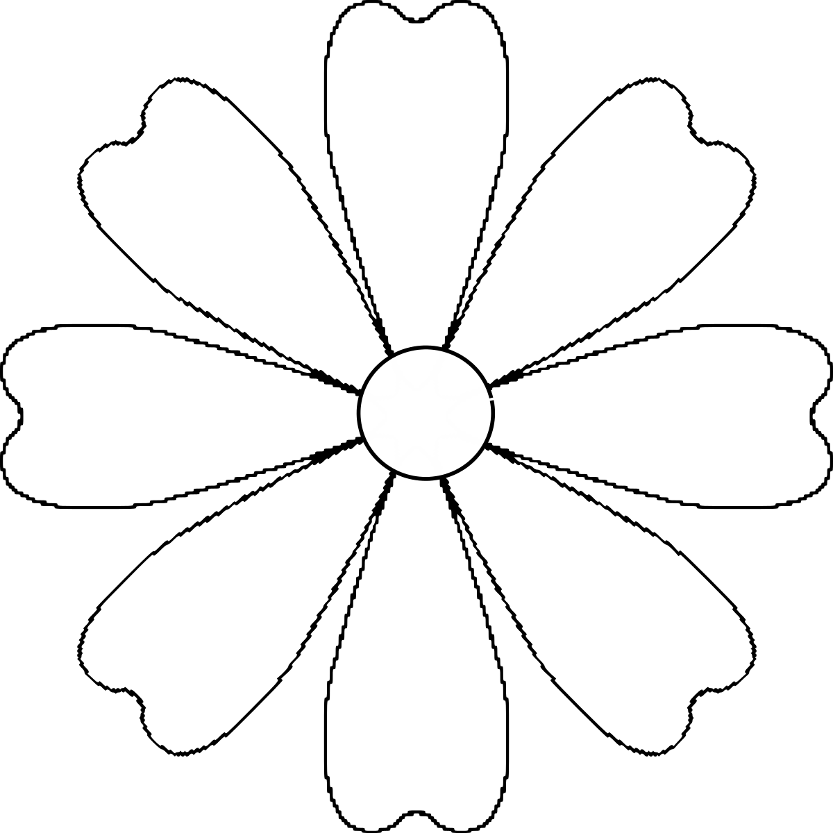 Картинка раскраска ромашка