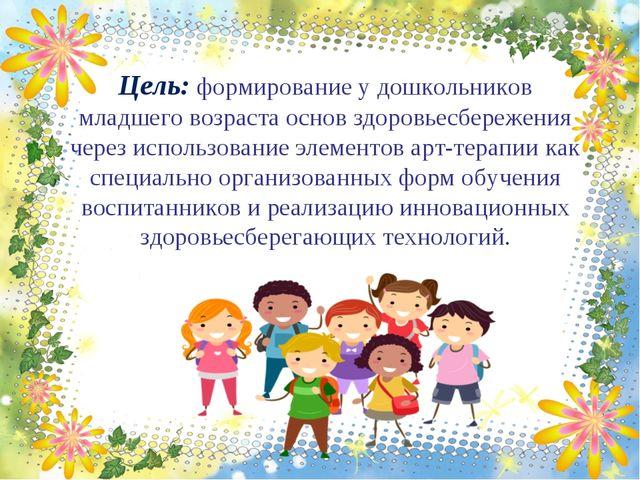 Цель: формирование у дошкольников младшего возраста основ здоровьесбережения...