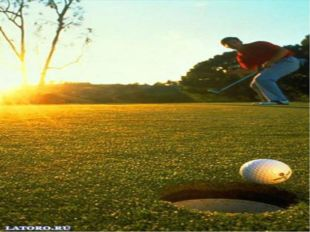 History It is believed that the game of Golf was born in Scotland and was inv
