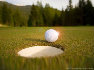 Golf course The Golf course consists of a series of holes, each of which has