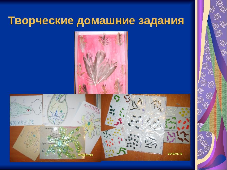 Творческие домашние задания