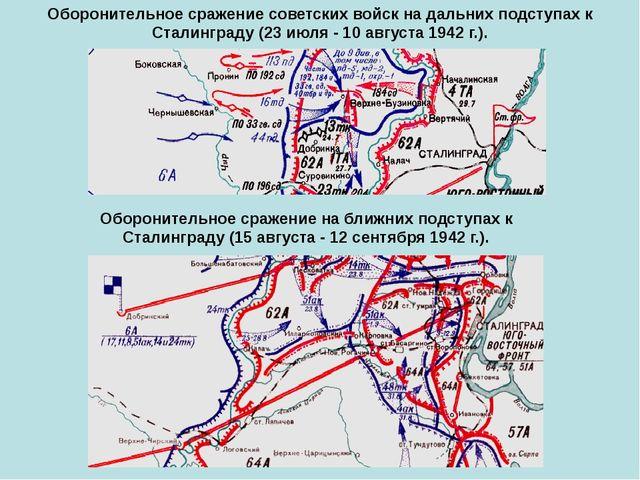 Оборонительное сражение советских войск на дальних подступах к Сталинграду (2...