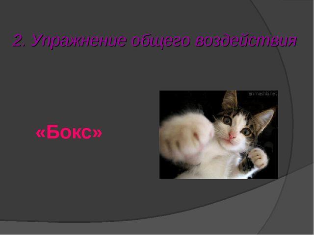 2. Упражнение общего воздействия «Бокс»