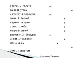 Соловьева Людмила Александровна  о ы е и втепл.. м пальто +    ранн..м ут