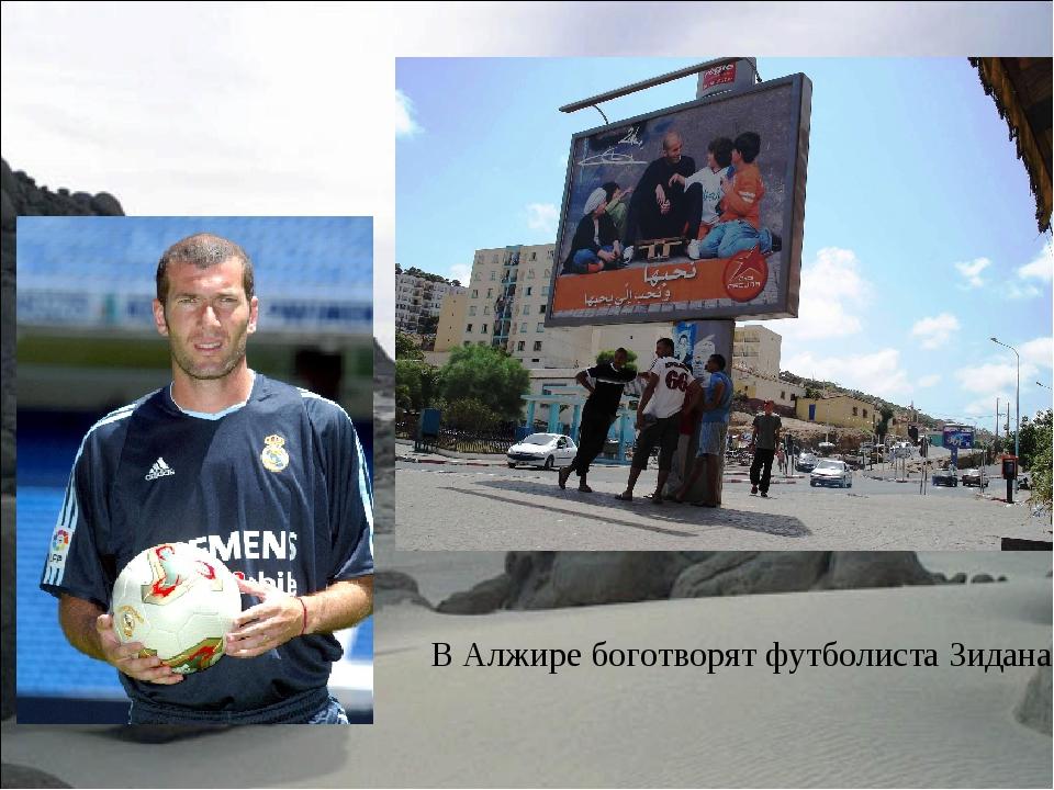 В Алжире боготворят футболиста Зидана