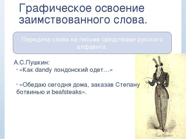 Передача слова на письме средствами русского алфавита. Графическое освоение з...
