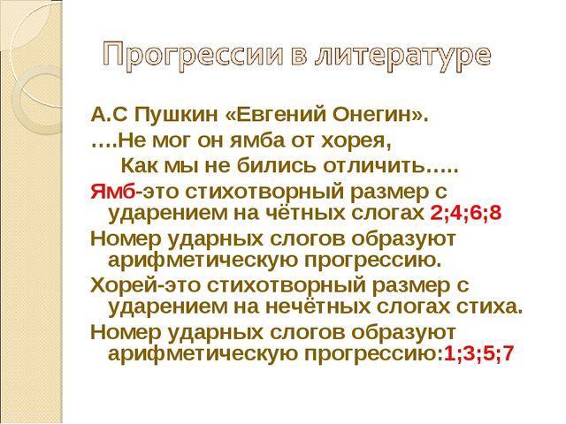 А.С Пушкин «Евгений Онегин». ….Не мог он ямба от хорея, Как мы не бились отли...