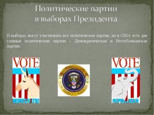 В выборах могут участвовать все политические партии, но в США есть две главн