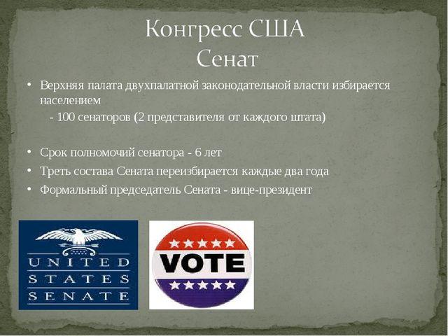 Верхняя палата двухпалатной законодательной власти избирается населением - 10...