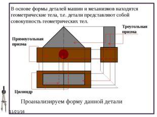 В основе формы деталей машин и механизмов находятся геометрические тела, т.е