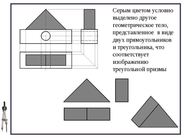 Серым цветом условно выделено другое геометрическое тело, представленное в в...