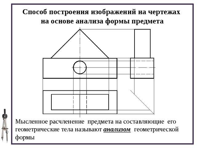 Способ построения изображений на чертежах на основе анализа формы предмета М...