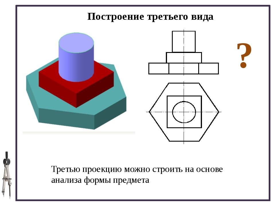 §13, стр. 80 – 92. Выполнить графическую работу №5 «Построение третьего вида...
