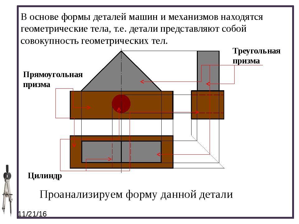 В основе формы деталей машин и механизмов находятся геометрические тела, т.е...