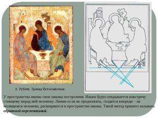 А. Рублёв. Троица Ветхозаветная. У пространства иконы свои законы построения.