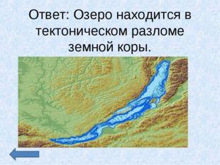 Ответ: Озеро находится в тектоническом разломе земной коры.